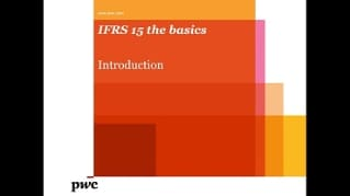 PwC's IFRS 15 the basics - Introduction to the standard